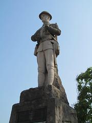 Monmouth War Memorial [Explored] (pefkosmad) Tags: war warmemorial memorial statue sculpture soldier serviceman uniform explore explored