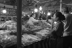 Squid For Sale (Shane Hebzynski) Tags: bangkok thailand ratchaprasong market black white squid street lights night people otdoors