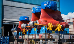 2016 - Baltic Cruise - Helsinki - Boat Power (Ted's photos - For Me & You) Tags: 2016 tedsphotos tedmcgrath helsinki helsinkifinland finland azipod abbfinland propeller fencing marine motors propulsion