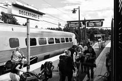 Degerfors, trafikutbyte (Michael Erhardsson) Tags: degerfors mobilfoto tguppehll 2016 augusti svartvitt dg vrmland