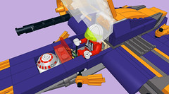 Subayai-Raised-Open2 (Hazatronic) Tags: japanese fighter lego space scifi mlcad moc starfighter ldraw subayai