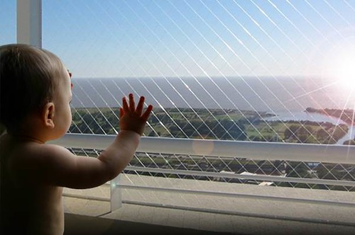 Make a Balcony Safe For Children with Transparent Balcony Safe Nets