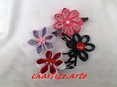Tic-tacs variados (Nina.artes) Tags: flores fuxico tictacs tecidos presilhas
