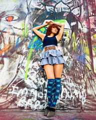 Ingrid (rimatakesphotos) Tags: sunlight fashion graffiti model otis naturallight rimabaroudi rimatakesphotos nikon1j1