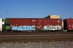 Yuthe Acet (The Braindead) Tags: street art minnesota train bench photography graffiti interesting flickr painted tracks minneapolis twin rail explore most beyond cdc the braindead cites flickrs acet yuthe thebraindead