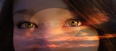 Dream on (TessKith) Tags: blue sky green eye girl beautiful face hair amazing cool eyes pretty eyelashes quote dream dreaming quotes dreams stunning tess brunette kith tesskith