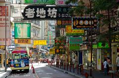 Hong Kong (andreaskoeberl) Tags: china street travel signs hongkong nikon colorful asia streetlife hong kong d7000 nikond7000 andreaskoeberl