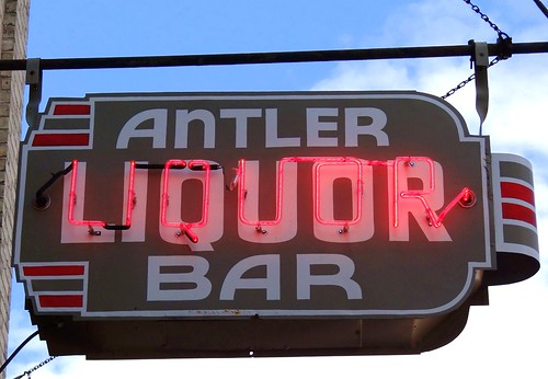 MI, Pentwater U.S. 31(Old) Antler Bar Neon Sign