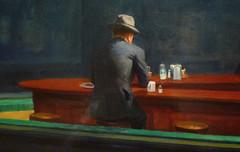 Hopper, Nighthawks with detail of lone man