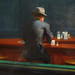 Hopper, Nighthawks with detail of lone man