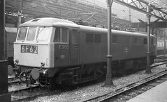 E3153 at Crewe - 8th August, 1974 (Deadman's Handle) Tags: train rail railway trains crewe railways class86 electriclocomotive electricloco e3153 brinthe1970s brinblackandwhite britishrailinthe1970s britishrailinblackandwhite