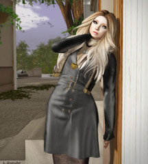 Belgravia - Kensington Trench Coat - Slate & Belgravia Skin (Coming Soon) (Lila is confused by this layout) Tags: fashion mesh secondlife bent exile ikon belgravia fanatik slfashion slbeauty lilaquander dementeddiva maxigossamer