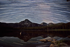 Breaking the Rules (Dylan MacMaster) Tags: lake reflection oregon south stacked startrails anthonylakes gunsightmountain elkhornmountains startrailsexe fotocompetition fotocompetitionbronze