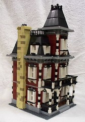 Victorian Home (steelwoolghandi) Tags: red house home dark lego display victorian wip haunted legos custom 10228 foitsop