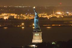 The Statue of Liberty, Thursday Night. (Jay Fine) Tags: sky usa newyork water night cityscape nj statueofliberty nyharbor