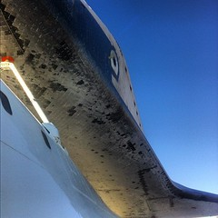 Looking up at a Shuttle #Endeavour #SpotTheShuttle #NASASocial