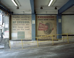 (holloway steve) Tags: park old urban car kodak soho advert portra wandering 160 mamiya7