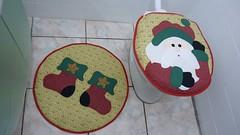 P1020179 (Monne Arts) Tags: natal de bonito artesanato capa noel lindo festa decorao jogo banheiro mamae papai tecido colorido algodo enfeite proteo festivo natalino