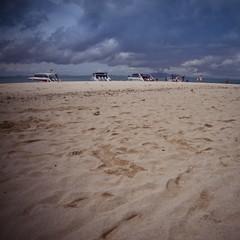 Shifting sands (Sean Lowcay (sealow08)) Tags: ocean travel sea water clouds thailand island sand asia phiphi samsung tropical kohphiphi tropics kophiphi ex1 samsungex1