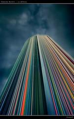 Chemine Moretti (Paris - La Dfense) (Arnaud D...) Tags: sky cloud paris france color tower lines french cloudy perspective line ciel nik nuage francia hdr couleur ladfense arcenciel parigi parisien nuageux sigma1020 paname 550d niksoftware tourmoretti hdrefex