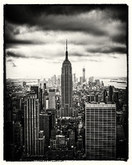Empire State Building (Gavin Ross) Tags: newyorkcity blackandwhite newyork building sepia manhattan empirestate avenue 5th nikond200