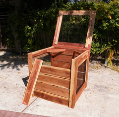 "1-Bin Redwood Compost Bin - one panel off • <a style=""font-size:0.8em;"" href=""https://www.flickr.com/photos/87478652@N08/8049155440/"" target=""_blank"">View on Flickr</a>"