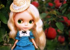 Blythe in the Apple farm