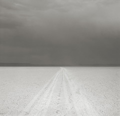 Road, Alvord Desert, Oregon (austin granger) Tags: road film square space empty tracks playa alvorddesert austingranger