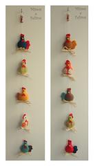 Mbiles de Galinhas (Mimos e Feltros) Tags: handmade craft felt feltro pendant bichinhos mbile galinhas pendente mbiledegalinha