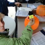 Jennifer Halcomb draws a qualifying pill for Halcomb Racing driver Jeff Babock