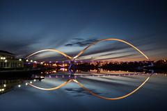 Flat Calm (Festcu) Tags: bridge infinity illuminated stockton tees nightpics thornaby