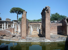 """Maritime Theater,"" Hadrian's Villa, axial view across the island"