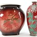 120A & B. Porcelain Vase and Japanese Cloisonne Vase