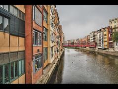 Onyar River - Girona (tolombardo) Tags: catalonia espana viaggio hdr spagna catalogna onyar ryver