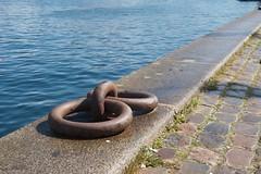 ringed (diminoc) Tags: copenhagen circle denmark coast canal dock iron double ring cobbles