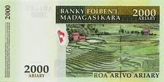 Madagascar Banknote:Roa Arivo Ariary 2000 (Enemy8028) Tags: madagascar morondava baobabs 馬達加斯加 麵包樹