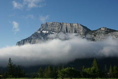 Mount Rundle (Stefan Jrgensen) Tags: mount rundle mountrundle canada alberta banff mountain canadianrockies rockies sony dslra700 a700 clouds