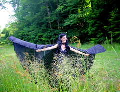 IMG_1790p (ScarletPeaches) Tags: fairy pixiefaerie fae isiswings fantasy outdoors bethw goth blackdress