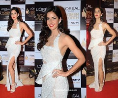 Katrina Kaif at L'Oreal Paris Women of Worth Awards (shaf_prince) Tags: actressingowns actressinwhitedresses bollywoodactress bollywooddesignerdresses celebritydresses designerwear eveninggowns gowns katrinakaif l'orealwomenofworthawards michaeldgown partyweargowns sleevelessdresses