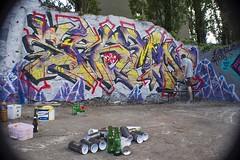 Mix City (Depar de Pizza !) Tags: graffiti graff tag mix city bieres sp6mn depar smog lyon