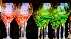 En rouge et vert (Yasmine Hens) Tags: glasses cristal crystal rouge vert red green hensyasmine namur belgium wallonie europa aaa belgi belgia europe belgien  belgique blgica   belgie  belgio    bel be brocante temploux brocantedetemploux