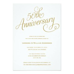 (50TH | WEDDING ANNIVERSARY INVITATIONS) #50Th, #Anniversary, #Bride, #Celebration, #Classic, #Classy, #Cocktail, #Designer, #Drinks, #Elegant, #Fifty, #Formal, #Gathering, #Gold, #Groom, #Luxury, #Marriage, #Modern, #Party, #Pretty, #Retro, #Script, #Sty (CustomWeddingInvitations) Tags: 50th | wedding anniversary invitations bride celebration classic classy cocktail designer drinks elegant fifty formal gathering gold groom luxury marriage modern party pretty retro script stylish surprise text trendy type typography vintage white is available custom unique store httpwwwzazzlecom50thweddinganniversaryinvitations161885981334738669rf238062003443194985 weddinginvitation weddinginvitations