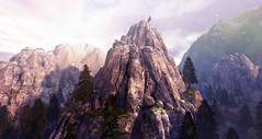 Vancouver Prime: Mountain (Moxillin) Tags: secondlife scifi sl an alliancenavy sciencefiction landscape planet mountain forest alliance navy vancouver prime