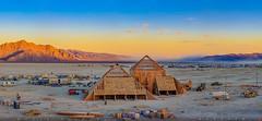 The Catacomb of Veils, Burning Man 2016 (Michael Holden) Tags: brc blackrockcity burningman burningman2016 thecatacombofveils art bman2016 catacombofveils desert festival playa sunset underconstruction