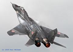MiG-29A Polish Air Force (Anhedral) Tags: riat2016 raffairford airshow mikoyan mig29a polishairforce 1elt fighter fulcrum reheat airdisplay