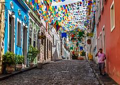 Decorated Street, Salvador (e.w. cordon) Tags: brazil salvador celebration street bahia travel ewcordon cidadealta history historical pelourinho afrobrazilian southamerica