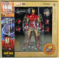 Kaiyodo  Sci-Fi Revoltech  Series No. 036  Iron Man  Iron Man Mark III  Box Art (My Toy Museum) Tags: kaiyodo revoltech sci fi iron man mark mk 3 iii action figure