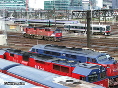 Action at Southern Cross (DQ2004) Tags: southerncrossstation vline nclass aclass vlocity sprinter vlinepassenger