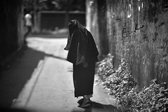 I ain't dying yet ! (N A Y E E M) Tags: oldlady burqa hijab neighbour candid portrait light friday afternoon street rabiarahmanlane chittagong bangladesh windshield