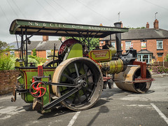 Greyhound Inn steam up (Ben Matthews1992) Tags: greyhoundinn vintage vehicles old preserved preservation vehicle transport haulage steam traction engine staffordshire classic roller rolling aveling porter 8316 ladyhamilton hamilton e5335